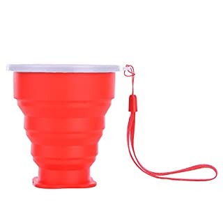 AIHOME™ Silicone Collapsible Folding Portable Cup for Outdoor Traveling,Environmental Protection,Unbreakable, Space Saving