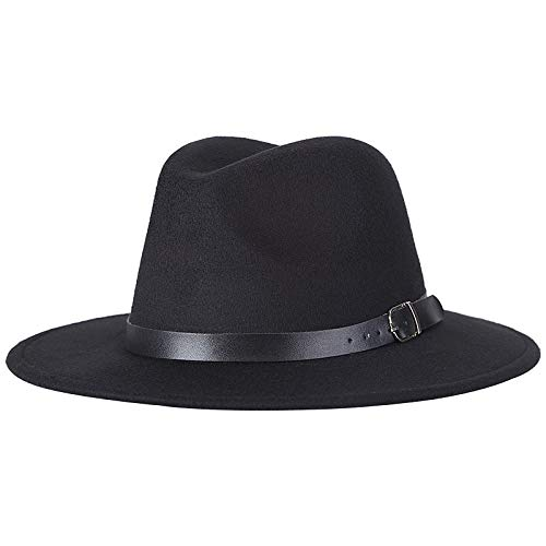 OLIS,Fedora Hut Panama Trilby Gangster Sonnenhut Breiter Krempe Jazz Kappe Unisex,1-OneSize