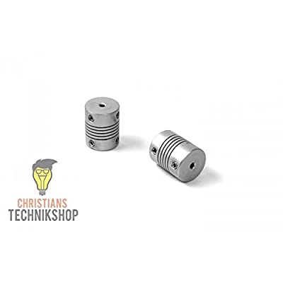 Wellenkupplung 20mm 2,5NM - Bohrungen wählbar | z.B 3D Drucker,Schrittmotoren,etc