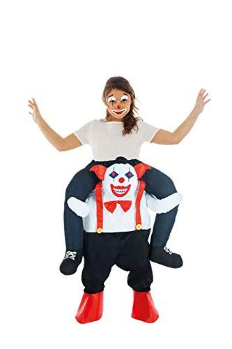 Enter-Deal-Berlin Huckepack Kinderkostüm Killer Clown Größe 140 cm ( 7-9 Jahre ()