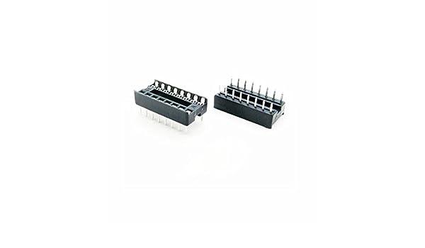 10Pcs 20pin DIP IC Socket Adaptor Solder Type Socket Pitch Dual Wipe Contact NEW