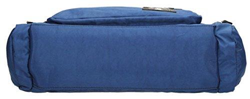 SwankySwans Damen Kempton Multi Zip Lola Cat Motif D Schultertaschen Blau (Dunkelblau)