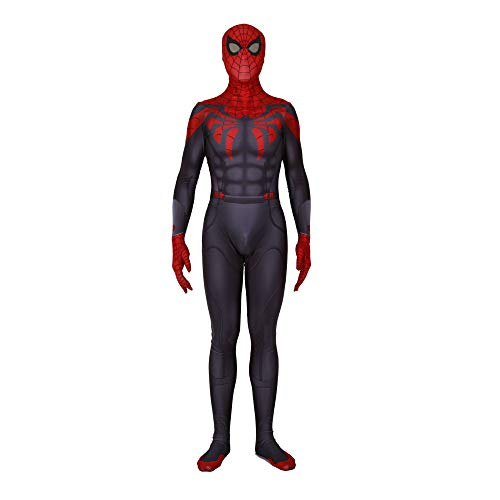 Parker Kostüm Peter - KOUYNHK Spiderman Far from Home Kostüm Peter Benjamin Parker Cosplay Overall Superheld Spiderman Zentai Bodysuit Halloween-Outfit,Adult-M