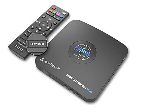 ClonerAlliance HDML-Cloner Box Pro, capture 1080p HDMI videos/games and play back instantly with the remote control, schedule recording, HDMI/VGA/AV/YPbPr input. No PC required.