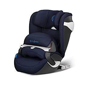 CYBEX Gold Kinder-Autositz Juno M-Fix, Für Autos mit und ohne ISOFIX, Autositz Gruppe 1 (9-18 kg), Indigo Blue