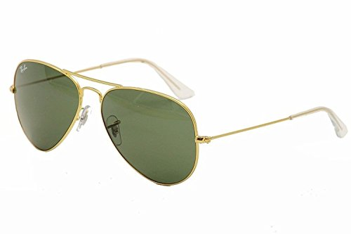Ray-Ban RB3026 L2846 62-14/3N Aviator Non-Polarized Sunglasses, Golden Frame Large size Natural Green Lens, 62mm  available at amazon for Rs.4500