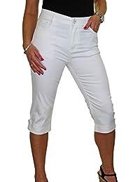 ICE Capri Jeans con Elasticidad y Brillo, botón de puño 38-48