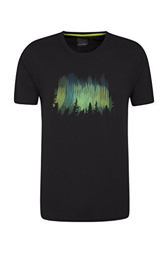 Mountain Warehouse T-Shirt Northern Lights - Tessuto IsoCool Leggero a Rapida Asciugatura Nero