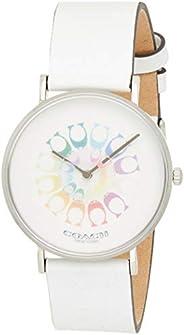 Coach Women's Multicolor Dial White Calfskin Watch - 1450