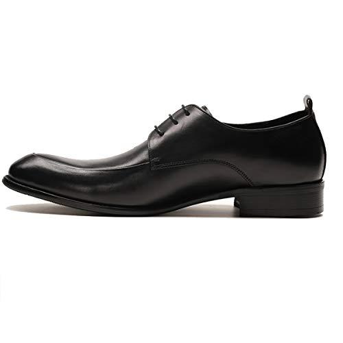 RSHENG Herren Oxford Schuhe Weinrot Krawatte Kleid Schuhe Leder Britisch Business Schuhe -