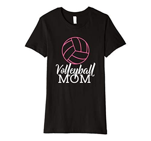 Damen Volleyball Mom T-Shirt - Muttertag Schwangerschaft Geschenk (Shirts Mom Volleyball)