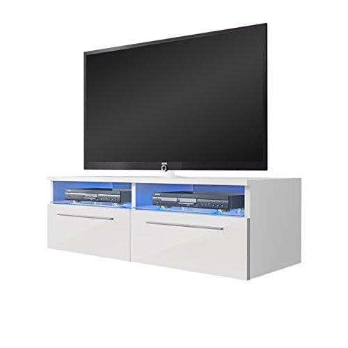 Siena – Mobile Porta TV / Supporto TV Moderno (100 cm, Bianco Opaco ...