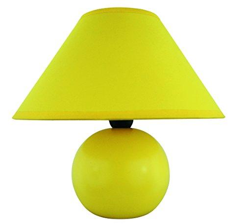 raba Lux Ariel–Lámpara de Mesa, cerámica Tejido, Amarillo, E14, 40 wattsW