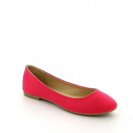 Ideal Shoes, Damen Ballerinas, Rosa Fuschia, 37