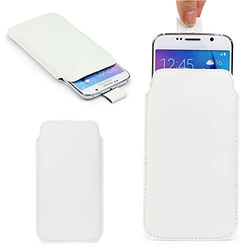 Original Urcover® Universal Schutzhülle [DEUTSCHER FACHHANDEL] Hülle Schale Pull Tab Etui Cover case Galaxy S7 Edge, S6 Edge Plus, iPhone 6 / 6s Plus Weiß
