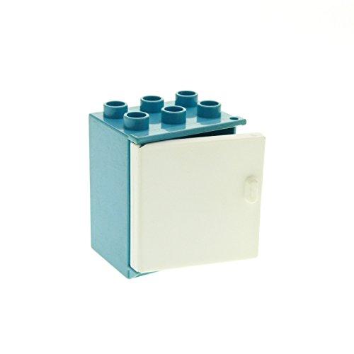 1-x-lego-duplo-mobel-kuhlschrank-maersk-hell-blau-weiss-eis-schrank-tur-puppenhaus-kuche-fur-set-255