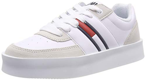 Hilfiger Denim Damen Tommy Jeans Light Sneaker, Weiß (White 100), 36 EU