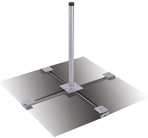 DUR-line Herkules 4-Plattenständer Feuerverzinkt - sehr stabil - kinderleichte Montage [Flachdachständer, Balkonständer, Gehwegplatten, Terassenständer, Sat-Antenne]
