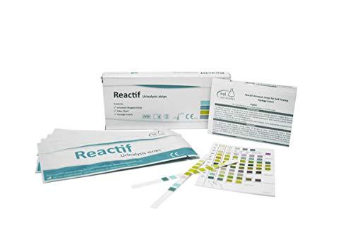 Reactif Gesundheitstest: Urintest Starter-Set 11 Parameter - 6 Urin Teststreifen Schnelltest mit separater Referenzfarbkarte
