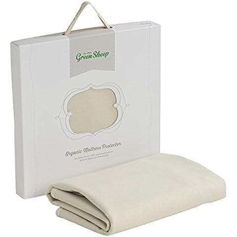 El Little Sheep verde orgánico impermeables boori y Stokke Inicio colchón protector (70 x 132 cm)
