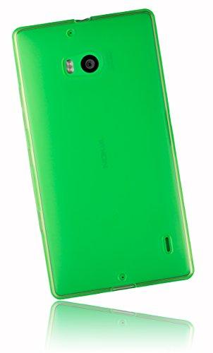 mumbi Schutzhülle für Nokia Lumia 930 Hülle transparent grün