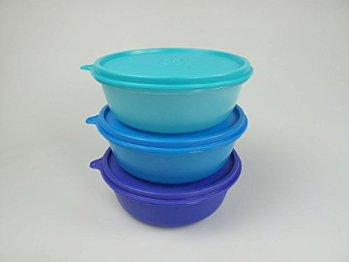 TUPPERWARE Ciotole multiple (3) 600ml blu oscuro + blu + turchese scatola