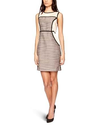 Vila Selima Body Con Women's Dress Nouvelle Peach/Black X-Small