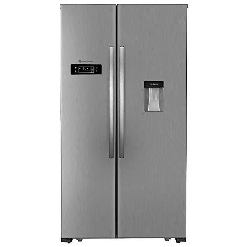 Kühlschrank Side by Side A+ Kühl- und Gefrierkombination 57,5 cm Tiefe Amerikanischer Kühlschrank XXL Wasserspender