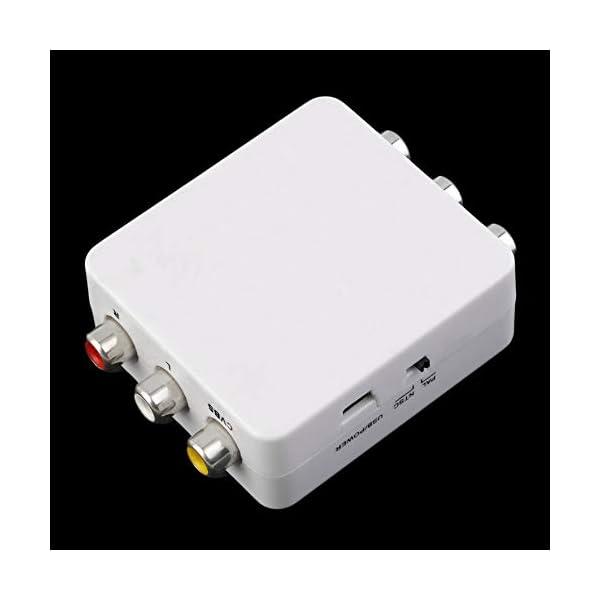 RoadRoma PAL NTSC SECAM A NTSC PAL TV Adaptador de conmutador convertidor de Sistema de Video Nuevo (Blanco) 3