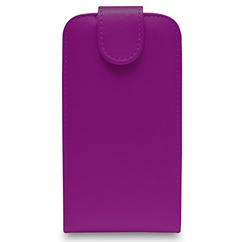 Apple iPhone 6S - Leder-Schlag-Fall-Abdeckungs-Beutel + Retractable Stylus Pen + Screen Protector & Poliertuch (blau) Dark Purple