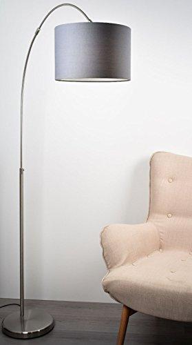 LED Bogenleuchte Stehlampe P461100111 Stoffschirm Loft
