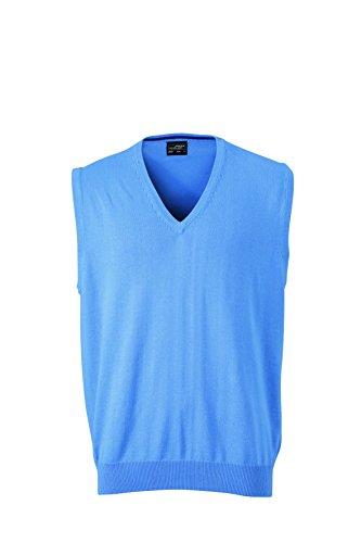 James & Nicholson Herren V-Neck Pullunder Blau (Glacier-Blue), X-Large
