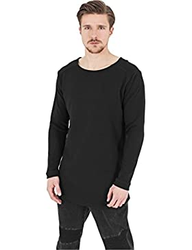 Urban Classics Herren Langarmshirt Shaped Waffle Long Sleeve Tee
