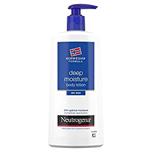 Neutrogena Deep Moisture Fast Absorbing Body Lotion 400 ml 24 Hour Moisturisation (Packaging may vary)
