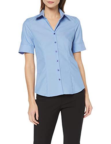Seidensticker Damen Bluse , Blau (Mittelblau 14), 38 -