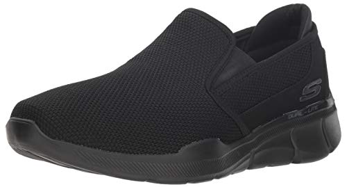 Skechers Herren Equalizer 3.0-Sumnin-52937 Slip On Sneaker, Schwarz (Black BBK), 45 EU