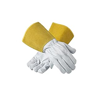 X 1 Pair Ansell 43-217 Heat Resistant Leather Tig Welding Work Gloves (10 L)