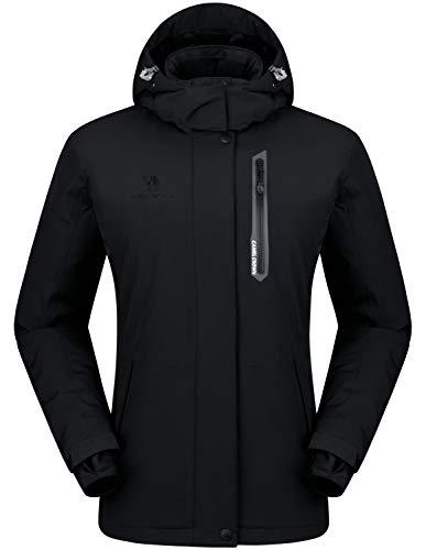 Camel crown giacca impermeabile da donna, giacca da sci calda con cappuccio, giacca softshell snowboard alpinista