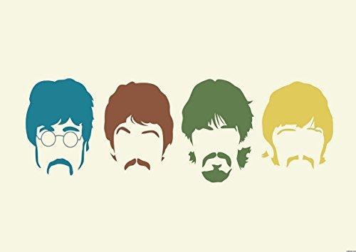 Beatles 15 John Lennon Paul McCartney George Harrison Ringo Starr gran diseño de disco de Metal diseño de Rock customstyle mejor foto de fotos de madera de diseño de A4 Póster