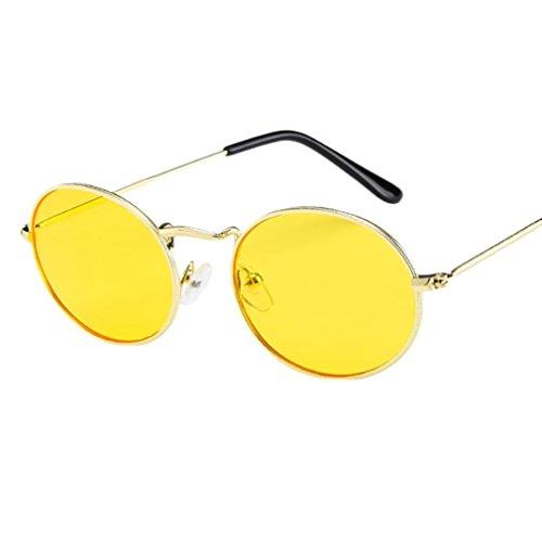 ?Amlaiworld sommer Mode Unisex Retro Oval bunt Gläser sonnenbrillen herren damen Polarisierte Sunglasses strand reflektierenden UV400 Linse outdoor brillen (C)