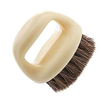 Multifunction Tfxwerws Cleaning Brush Horseshoe Shape Horse Brush Soft Brush for Hair Shoes (Beige)