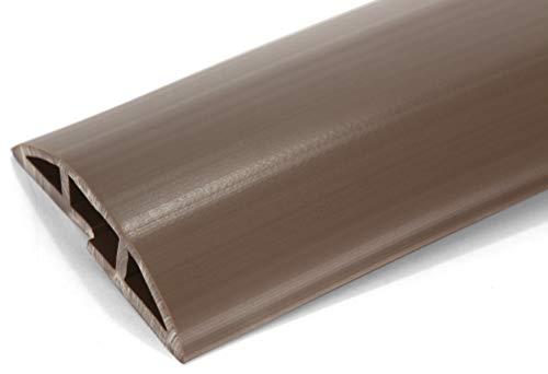 Braun Boden (ProTech - stabiler Kabelschutz mit 1 großem Kabelkanal - flexibler PVC-Schlauch - geruchsfrei - für ordentliche Kabel zu Hause, im Büro, Lager & der Werkstatt - leicht zu öffnen - Braun - 2 m lang)