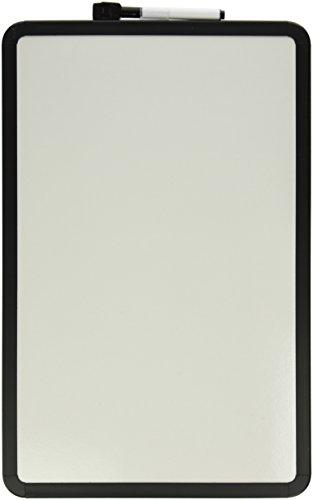 School Smart Dry Erase Boards with Black Frame - 11 x 17 - White by School Smart (Black Dry Erase Board)