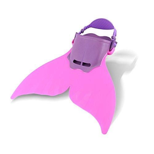Yosoo Schwimmflosse, Meerjungfrauen-Design, Einzelflosse, für Mädchen, rose