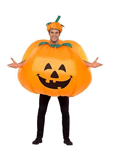 Smiffys Costume citrouille gonflable, avec ventilateur, combinaisonet chapeau