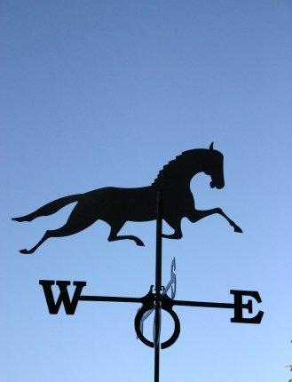 Wetterfahne Pferd in schwarz - von SvenskaV