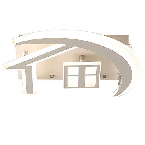 Deckenleuchte Kinderzimmer LED Originell Haus Form Acryl Deckenlampe Modern Art für Kinderzimmer Esszimmer Wohnzimmer Schlafzimmer Terasse Warmweiss 63 * 58 * 8cm 48W [Energieklasse A ++]