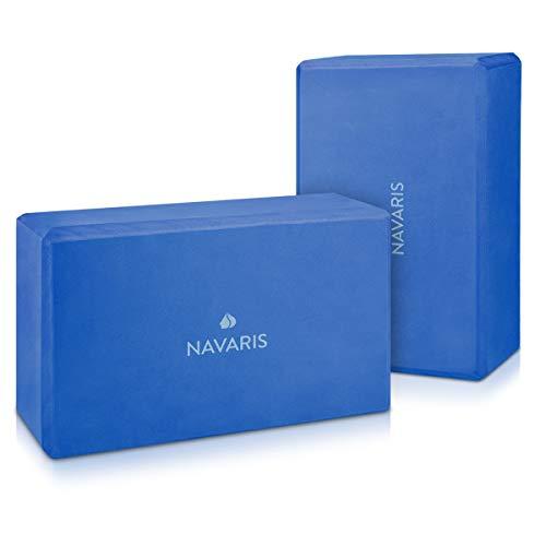 Navaris Blocco Yoga Set 2 Pezzi - 2X Blocchi Yoga mattoncino Yoga Block Accessori per Yoga Mattone in Schiuma espansa Eva Foam Brick - Diversi Colori