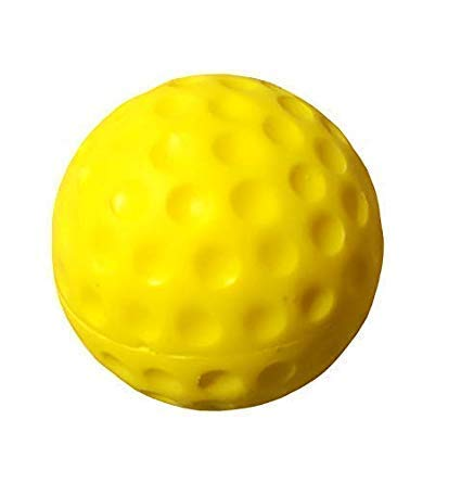 Flash Colour PU Full Bounce Hockey, Cricket Bowling Machines Ball - Pack of 2