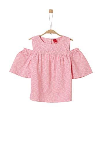 s.Oliver Mädchen 73.904.19.2479 Bluse, Rosa (Pink AOP 45a2), 164 (Herstellergröße: L/REG)